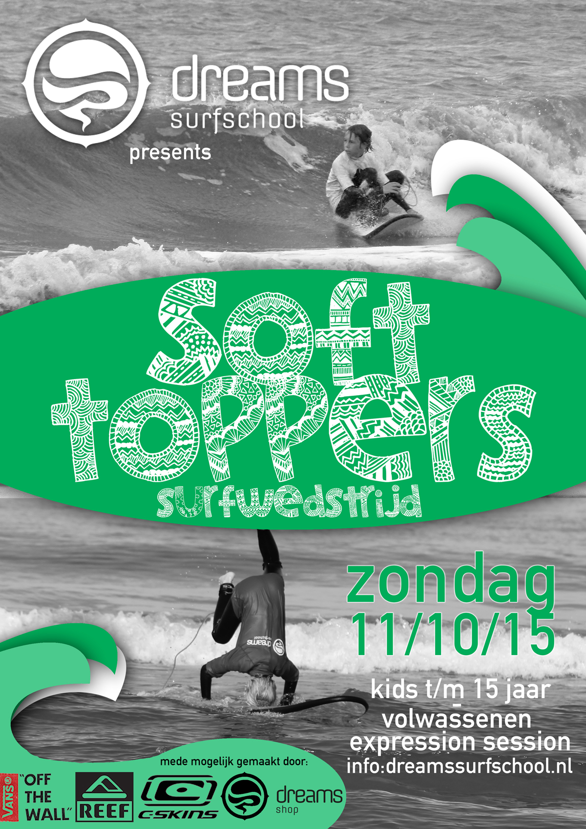 Dreams Softtoppers Surfwedstrijd 2015